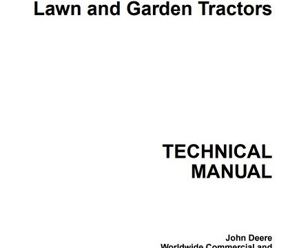 John Deere 425, 445, and 455 Technical Manual