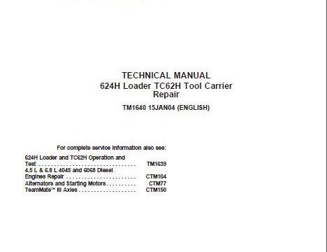 john deere 624h service manual