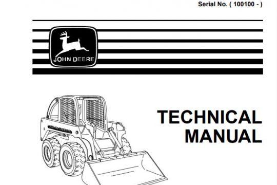 John Deere 240 and 250 Skid Steer Technical Manual