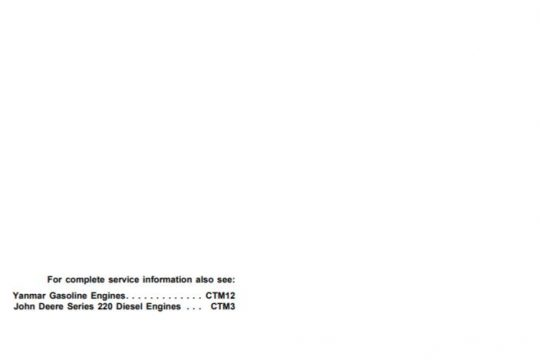 John Deere 322, 330, 332, 430 Lawn Garden Tractors Technical Manual