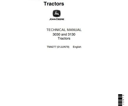 John Deere 3030 and 3130 Tractor Technical Manual