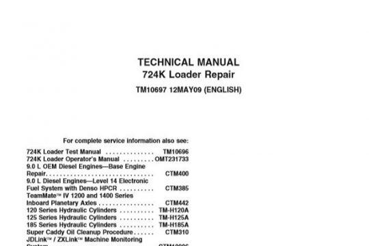 John Deere 724K Loader Repair Technical Manual