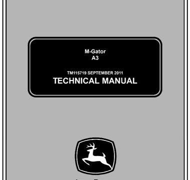 John Deere A3 M-Gator Technical Manual