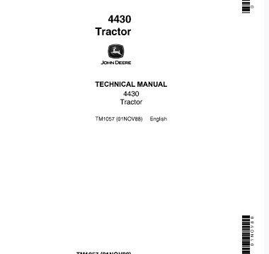 John Deere 4430 Tractor Technical Manual