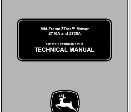 John Deere Z710A, Z720A Mid-Frame ZTrak Mower Technical Manual