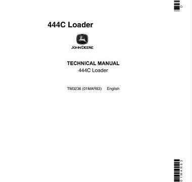 John Deere 444C Loader Technical Manual
