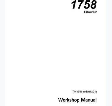 John Deere 1758 Forwarder Technical Manual