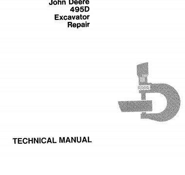 John Deere 495D Excavator Repair Technical Manual