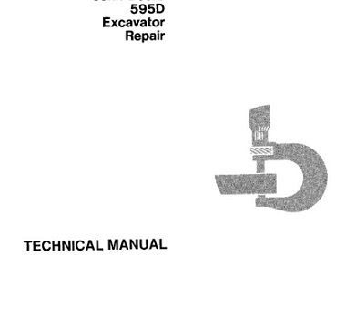 John Deere 595D Excavator Repair Technical Manual