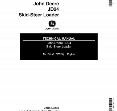 John Deere JD24 Skid-Steer Loader Technical Manual