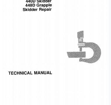 John Deere 340D and 440D Skidder, 448D Grapple Skidder Technical Manual