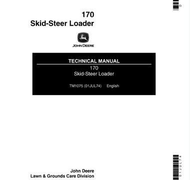 John Deere 170 Skid Steer Loader Technical Manual