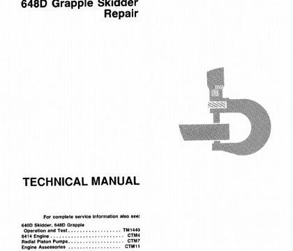 John Deere 640D Skidder, 648D Grapple Skidder Repair Technical Manual