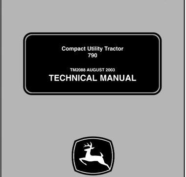 John Deere 790 Compact Utility Tractor Technical Manual