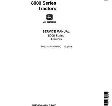 John Deere 8000 Series Tractors Service Repair Manual