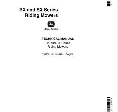 John Deere RX, SX Series Riding Mowers Technical Manual