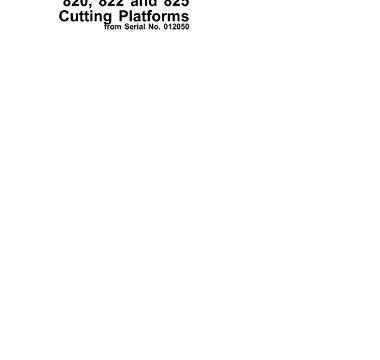 John Deere 814, 816, 818, 820, 822, 825 Cutting Platforms Technical Manual