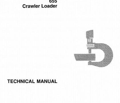 John Deere 655 Crawler Loader Technical Manual