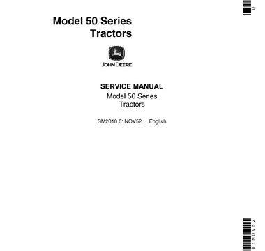 John Deere 50 Series Tractor Service Manual