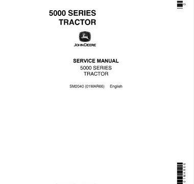 John Deere 5000 Series Tractors Service Manual