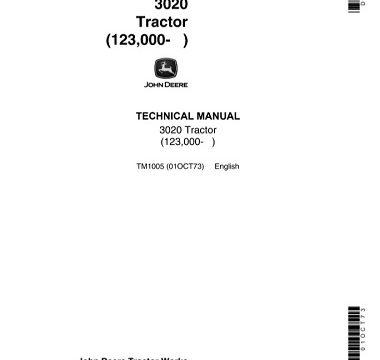 John Deere 3020 Tractor Technical Manual