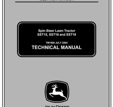 John Deere SST15, SST16, SST18 Spin-Steer Lawn Tractor Technical Manual