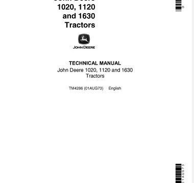 John Deere 1020, 1120, 1630 Tractors Technical Manual