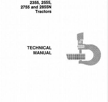 John Deere 2355, 2555, 2755 and 2855N Tractor Technical Manual