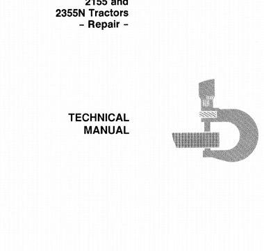 John Deere 2155, 2355N Tractors Repair Technical Manual