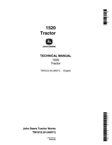 John Deere 1520 Tractor Technical Manual