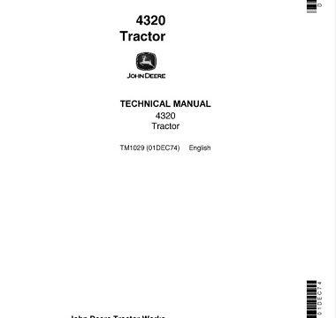 John Deere 4320 Tractor Technical Manual