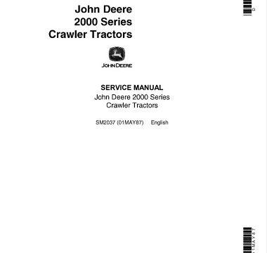 John Deere 2000 Series Crawler Tractors Service Manual