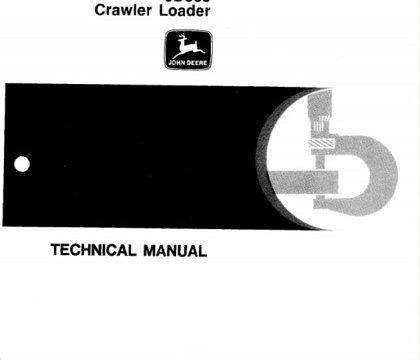 John Deere JD855 Crawler Loader Technical Manual