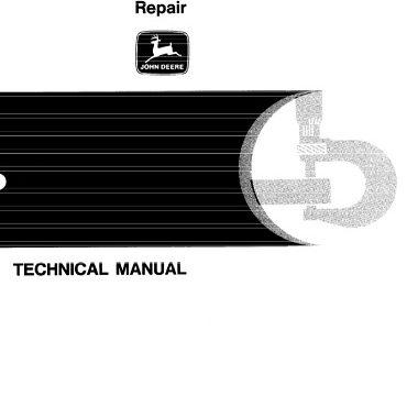 John Deere 710C Backhoe Loader Repair Technical Manual
