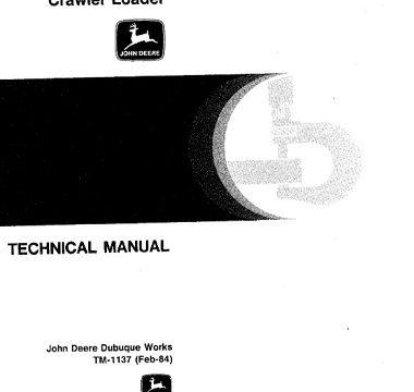 John Deere JD755 Crawler Loader Technical Manual