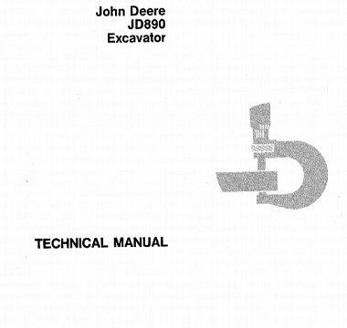 John Deere JD890 Excavator Technical Manual