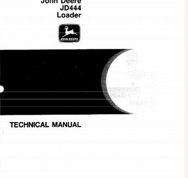 John Deere JD444 Loader Technical Manual