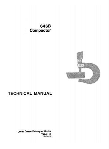 John Deere 646B Compactor Technical Manual